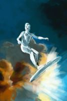 Silver Surfer speed paint by JonathanWyke