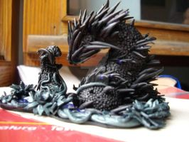 Black Fimo Dragon 2 by PissiPissiBauBau