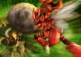 Pokemon Battle! Scizor VS Pinsir by Moozika