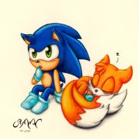 Baby Sonic and Tails by RAWN89