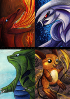 Pokemon ACEOs by bladebandit