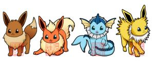 Chibi Eevees by MaeMaeTwin
