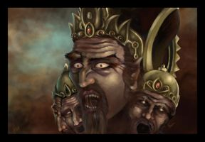 Ravana king of Sri Lanka by Narasura-of-Kashi