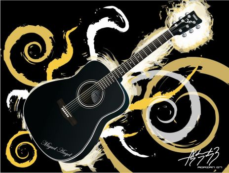Acoustic guitar by E-drian