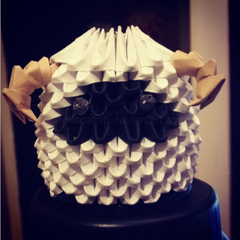 3D Origami: FFXIII Sheep by inyeon