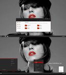 Black Red-X Theme For Windows 7 by cu88