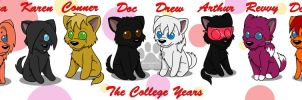 The College Years Chibis by Mytokyokitty