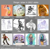 Things I drew 2012 by ktshy
