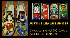 Justice League Shoes by soccercat4685