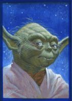 Yoda card by MichaelDooney