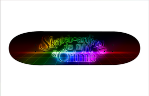 Skateboarding is not a Crime by Saruteku