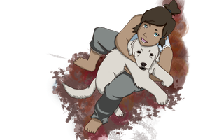 Korra and Naga by Legacys-wind