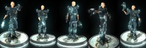 bald space man force 5 poses by joelee88