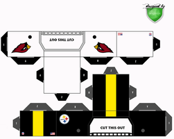 cardinals steelers helmets by 1madhatter