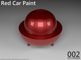 Material Test - Red Car Paint by PerpetualStudios
