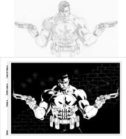 Timothy Green's Punisher inks by dubbery