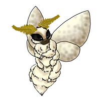Poodle Moth by Xxcandywater-fallsxX
