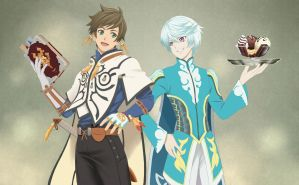 Sorey and Mikleo by Marchell-Finch
