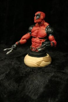 Deadpool bust by Mr--Blueberry