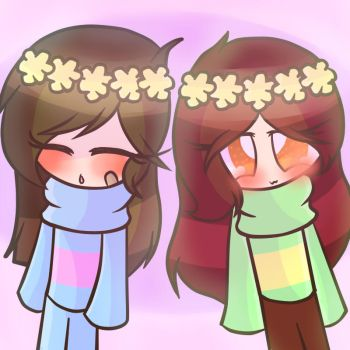 Frisk and Chara f2u profile picture by JigglypufftheUTfan