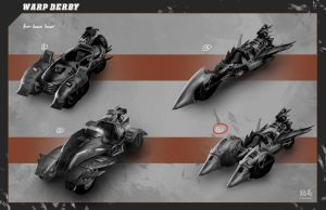 Warp Derby | Alien Vehicle Quick Concepts by RyomaNinja