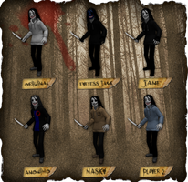 Creepypasta Series Addendum: Jeff's Alt. Costumes by dimelotu