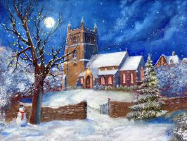 Christmas Church by dashinvaine