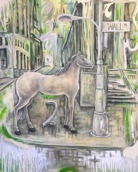 Horse on Wall Street by DinaPI