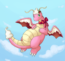 Strawberry Dragonite by Rika-of-Thunder