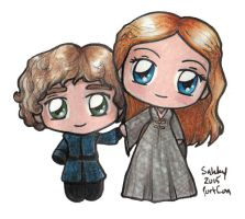 Chibi Tyrion and Sansa - Game of Thrones by sakkysa