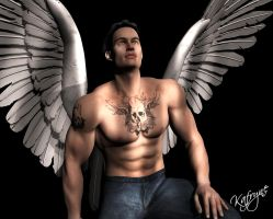 Iluminated angel by kafryne