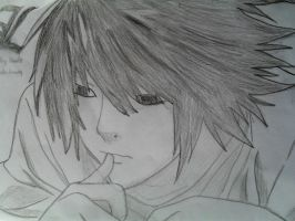 L Death Note Fan Art by ChemicalWeapon