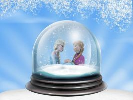 Elsanna Memories In Snowglobe by ElsannaShipper
