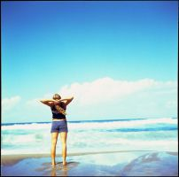 sea, sun and a girl by iskofoto