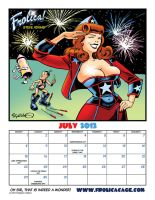 Fabulous Frolica! Pin Up Calendar for July, 2012! by stephen53