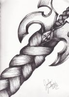 Sword Drawing With Pen by soviath