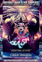 PSD Birthday Bash Flyer Template by retinathemes