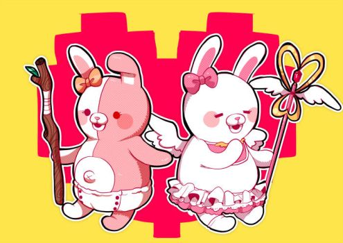 SuperDanganRonpa2- monomi and usami by out69