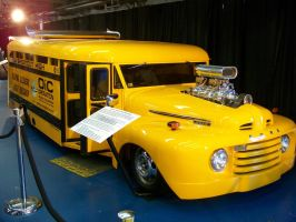 1949 Ford Shortcut Skool Bus by DetroitDemigod