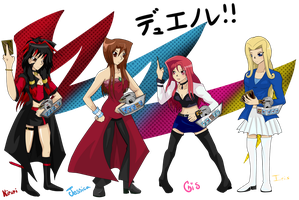 Girl Duelists Rock by setosangel28