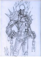 Ghost Rider sketch by scarecrowhassan