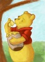 Winnie the pooh -speed drawing by IDROIDMONKEY