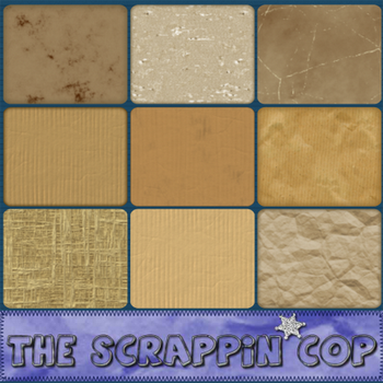 ScrappinCop Brown Paper Styles by debh945