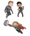 Avengers Stickers by Itabia