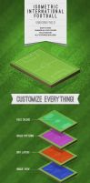 Isometric International Football Illustration by ramijames