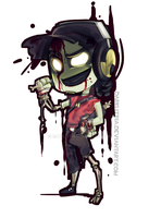 TF2: Little zombie scout by DarkLitria