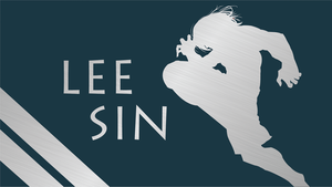 Lee Sin Silhouette - Blue - 1920x1080 by urban287