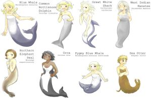 Mermaids Of The World by Kaede-chama