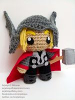 Arjeloops Movie Based THOR Crochet Doll by Arjeloops