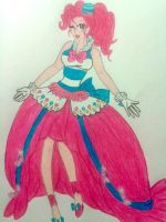Human Pinkie Pie- Candy Gala Gown by gaea-earthgoddess